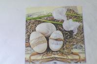 Serviette en  papier pâques et marque-page en bois