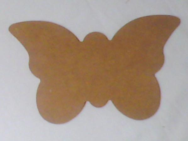 """Panneau en MDF""""Papillon"""" et Stickers en bois"""