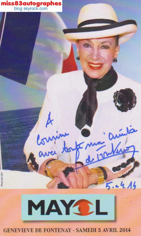 GENEVIEVE DE FONTENAY (Ex présidente Miss France)