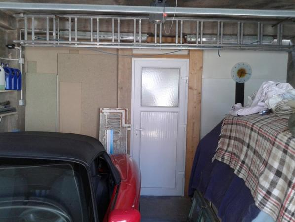 démolition du mur arrière du garage