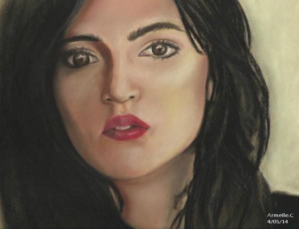 Portrait de Marion, à partir d'une photo de Max Gunther