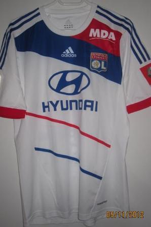 maillot Lyon 2012 2013 championnat domicile