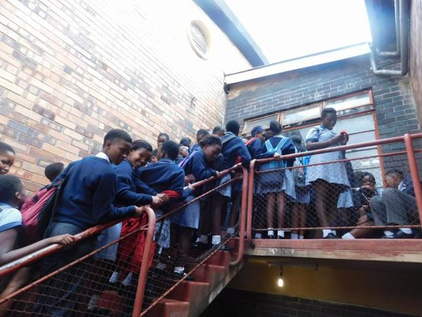 Today 10th April 2018, more than 1000 School students are paying respect to Mama Winnie Mandela