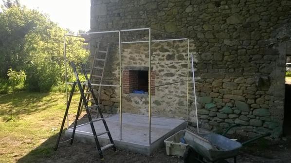 la volière en construction