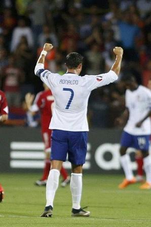 Cristiano lors du match du Portugal contre l'Arménie (13/06)