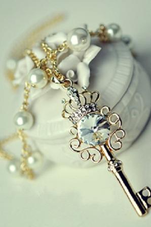 collier sautoir clef