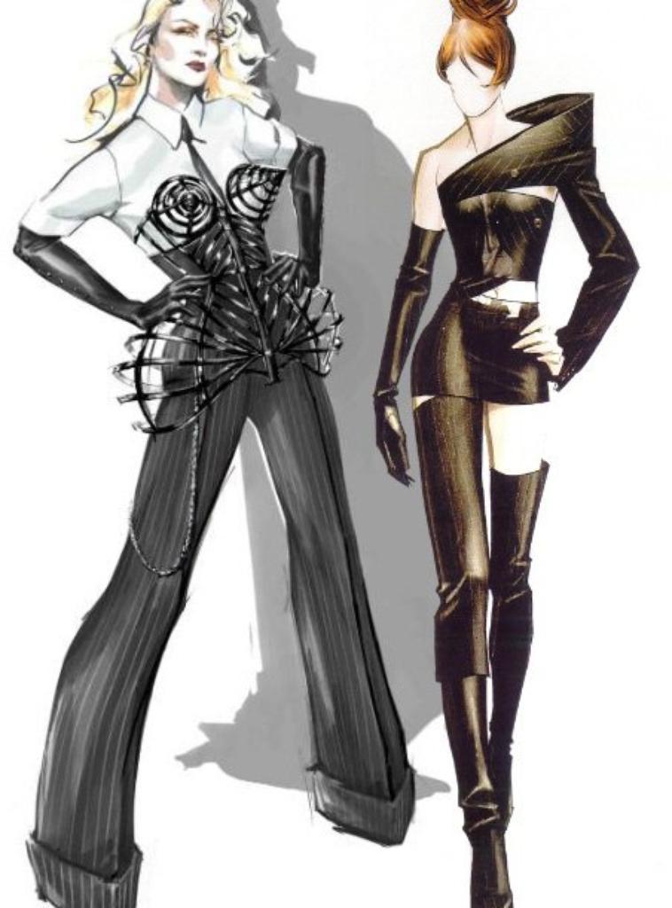Mylène Farmer et Madonna
