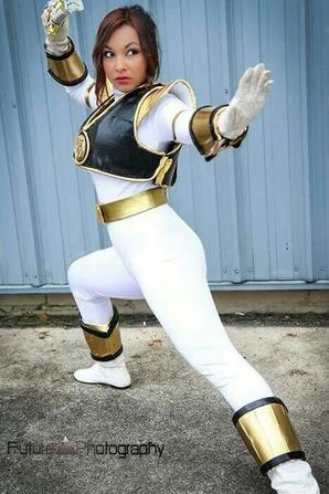 Cosplay du Power Ranger Blanc (mighty morphin)