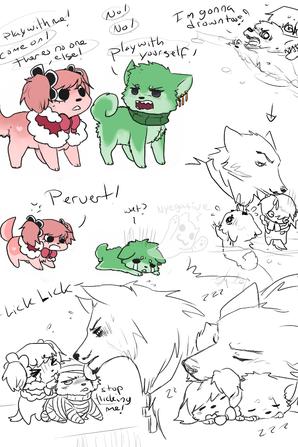 Mihawk et ses petits loups !