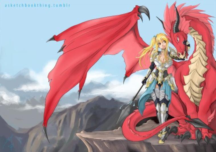 Nalu, Natsu en dragon et lucy
