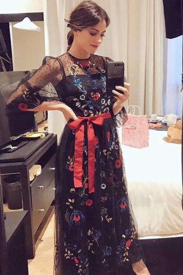 Martina au Gala du roi d'Espagne à Madrid (22 Février 2017) (19 ans)