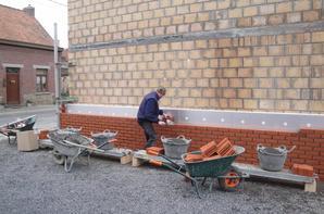 Pose isolations et briques de façades