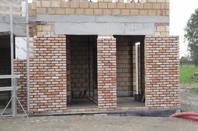 Pose briques de façades