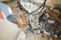 Garage démolition, terrassement, et béton
