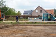 Chantier 2017 deux blocs de deux maisons tracé et terrassement