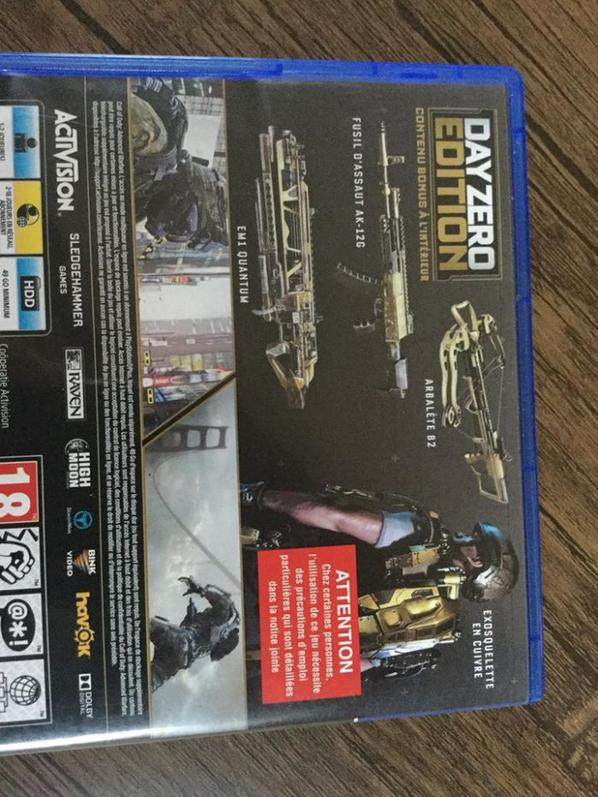 Jeux ps4 Call of Duty
