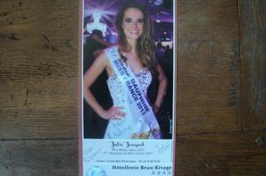 Julie Jacquot-Miss Rhône Alpes 2012 et 5ème dauphine Miss France 2013
