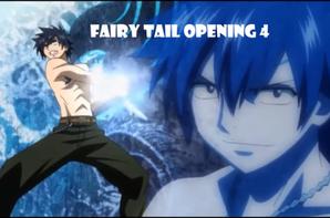 Fairy Tail - Grey, Herza, Happy, Lucy et Natsu