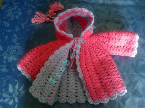 Bouble manteau  au crochet baby naissance