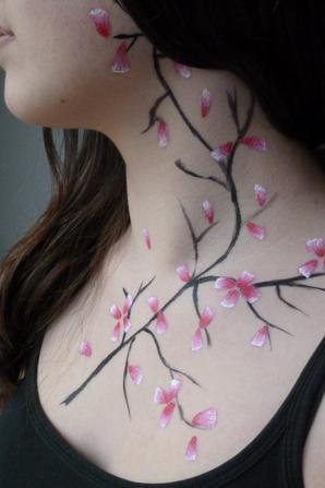 Body Art - Fleurs de cerisier ♥