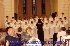 CONCERT PCCB A NEUVILLE DU POITOU (86)