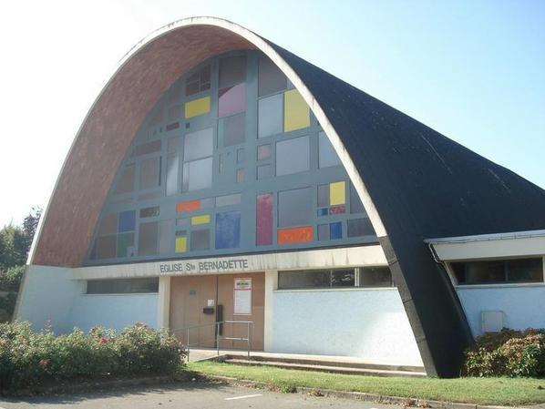 église de grand quevilly ST Bernadette hélas détruite