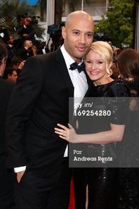 Tatiana-Laurens et Xavier Delarue in Festival de Cannes 2013 (Getty Image)