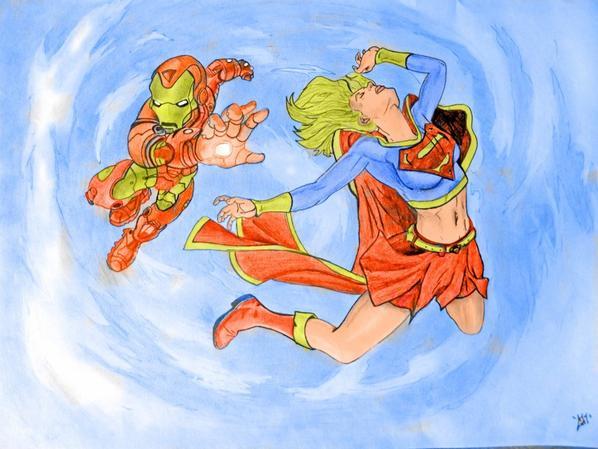 Iron Man vs Supergirl