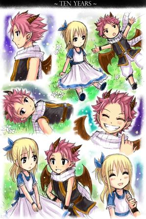 Princesse Lucy et Prince dragon Natsu