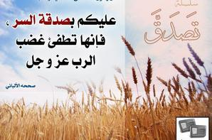 سلسلـة الأحـآديث والآيات عن الصدقـ'ـة (جميلة)