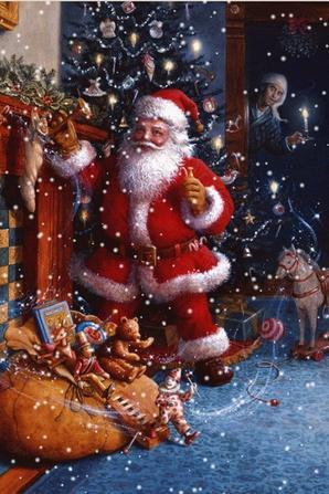 HO! HO! C'est Le Père Noël Apporte ses Cadeaux.