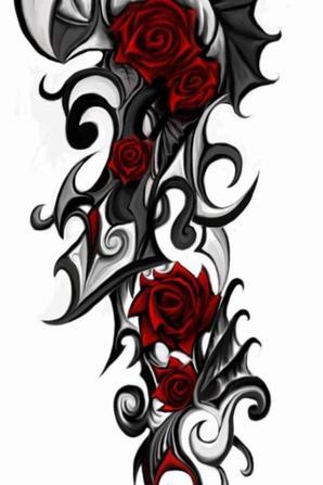 """Voici et j'aime bien ses d""""autre tatoo du femme gothique romantique !!"""