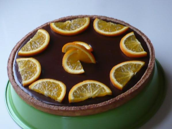 tarte chocolat / orange