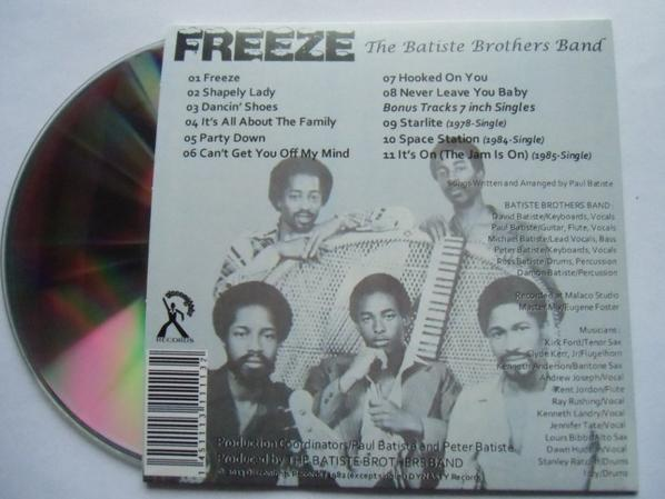 The Batiste Brothers Band 1982 Freeze