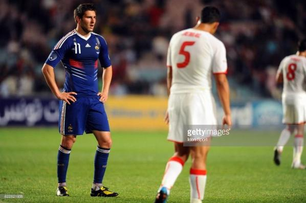 Photos de Gignac lors du match Tunisie France du 30/05/2010