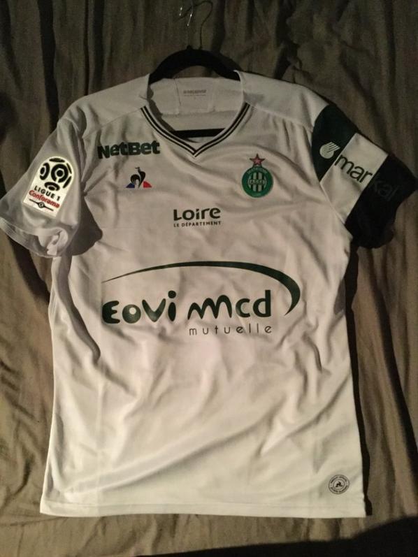 Maillots porté par Loïc Perrin face à Troyes saison 2017 - 2018
