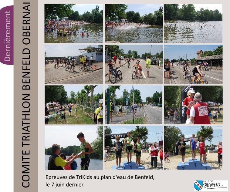 Le triathlon , départ de Benfeld
