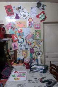 mon debarah transformé en atelier bricolage hihi