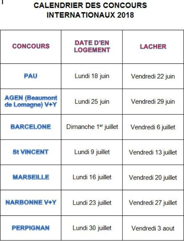 Concours Inter 2018