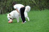 chucky lui joue  aux foot avec Jyclin   5.05.2013