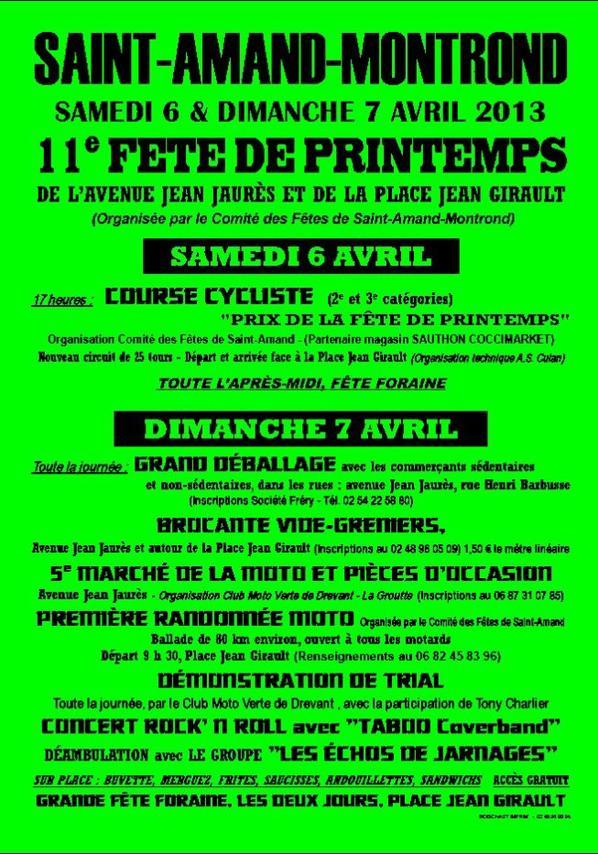 FETE DU PRINTEMPS 06 ET 07 AVRIL 2013