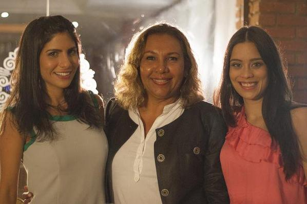 Clarice Alves pendant le tournage de son nouveau film a Rio