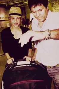 Shakira et Milan quittant le Bresil