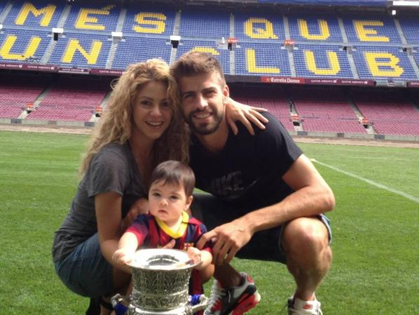 Shakira, Gerard et Milan le 29 - 08