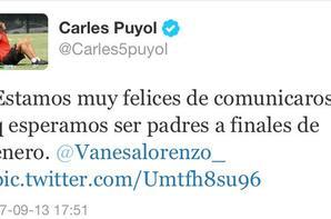 Carls Puyol et Vanessa Lorenzo confirme qu'ils seront parent en Janvier