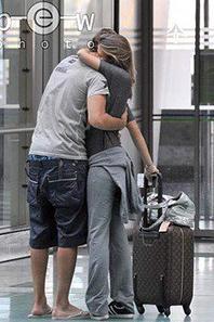Karim Benzema et Chloé le 23 - 08