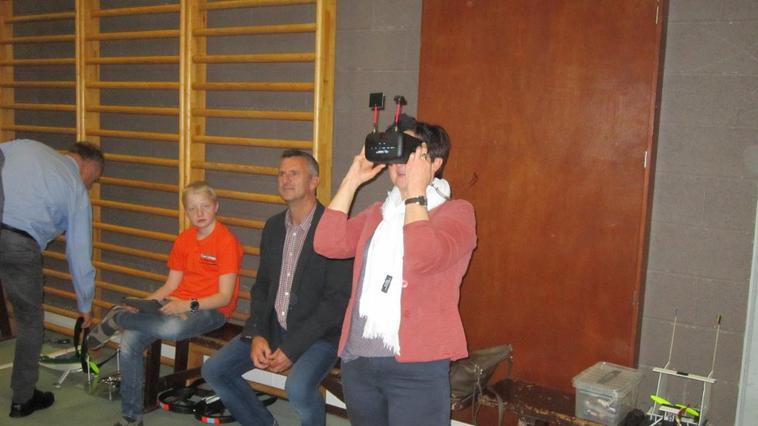 la visite de notre échevine des sport kathy valke