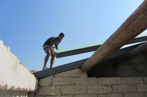 Pose de la toiture