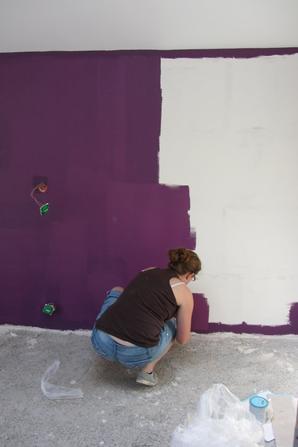 Ponçage et peinture