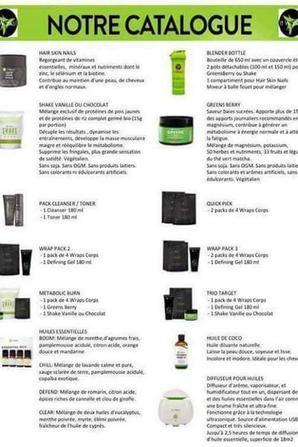 Voici le catalogue de nos cosmétiques